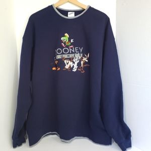 Vintage Looney Tunes Embroidered Sweatshirt XXL